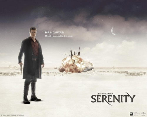 Nathan Fillion wallpaper probably with a business suit and a well dressed person titled Serenity [2005]