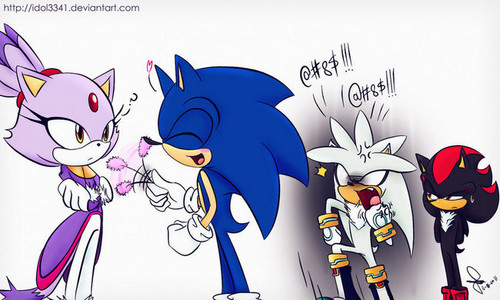 Silver, Sonic, Blaze and Shadow Moment