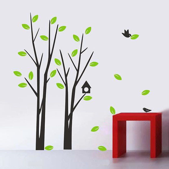 Simple Tree Wall Sticker Home Decorating Photo 31073672