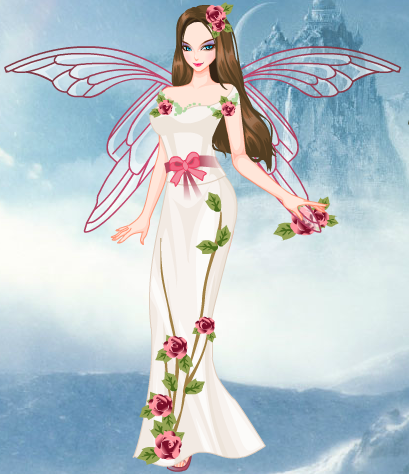 Fairies wallpaper possibly with a bouquet and a dinner dress entitled Spring Fairy