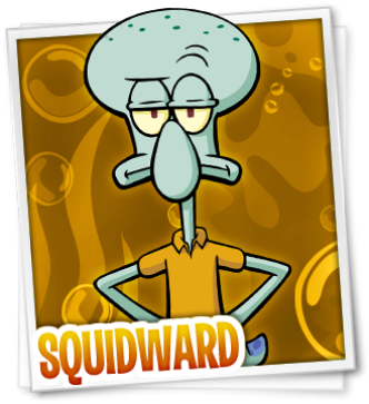 SpongeBob SquarePants karatasi la kupamba ukuta with anime entitled Squidward Tentacles