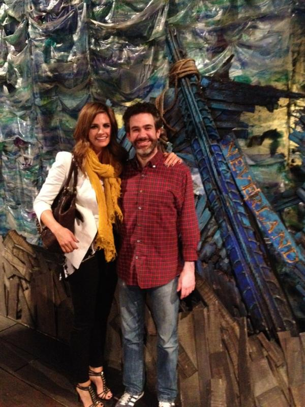 Stana with Chelsea Nachman at 'Peter and the Starcatcher'