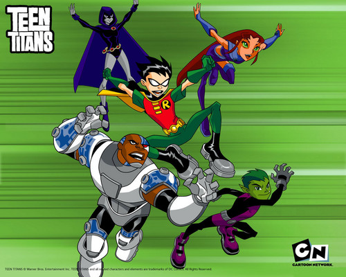 Teen Titans vs. Young Justice Обои with Аниме called Юные Титаны