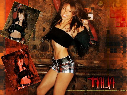 Thalia wallpaper probably with hot pants, an undergarment, and an underwear titled Thalia