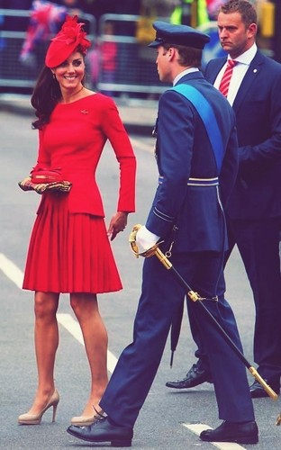 The Duke and Duchess of Cambridge attend the Diamond Jubilee Thames River Pageant,