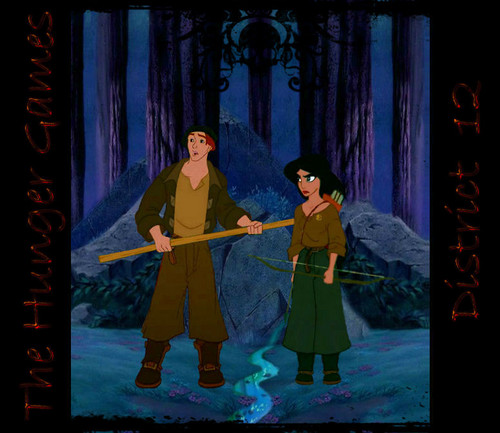 disney crossover achtergrond possibly containing a bezem and a garden rake called The Hunger Games Tributes