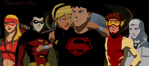 The Original 6 Members in YJ Comics - young-justice Photo