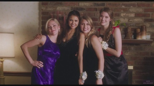 Nina Dobrev wallpaper containing a bridesmaid and a dinner dress titled The Perks of Being a Wallflower Screencap
