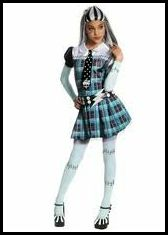 Monster High wallpaper probably with a hip boot, a chemise, and a shirtwaist titled The REAL Frankie Stein costume