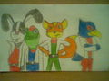 The StarFox 64 team - star-fox fan art