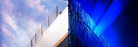 Titanic before & after