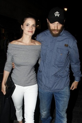 Tom Hardy outside the Prometheus after party at Aqua night club in London.