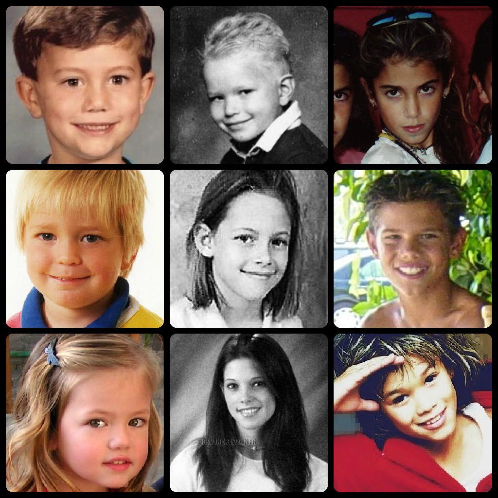 Twilight Cast as Kids