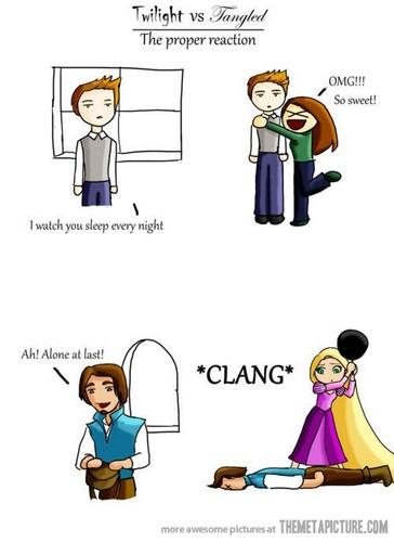 Twilight vs. Tangled: The proper reaction