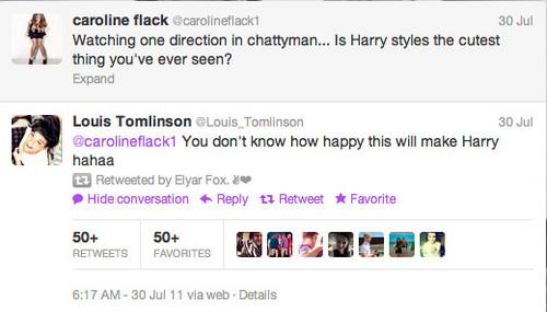 Twitter Caroline Flack about Harry Styles
