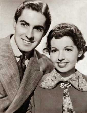 Tyrone Power & sister Anne