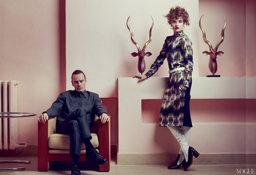 Michael Fassbender wallpaper with a well dressed person called US Vogue May 2012 outtakes