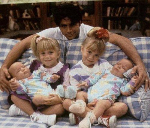 John Stamos and the Olson twins