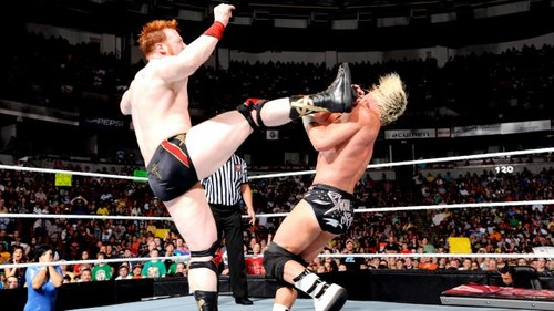 WWE Raw Ziggler vs Sheamus