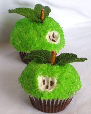 Капкейки с яблоками рецепт с фото