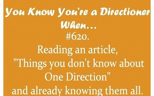 你 Know You're A Directioner When...