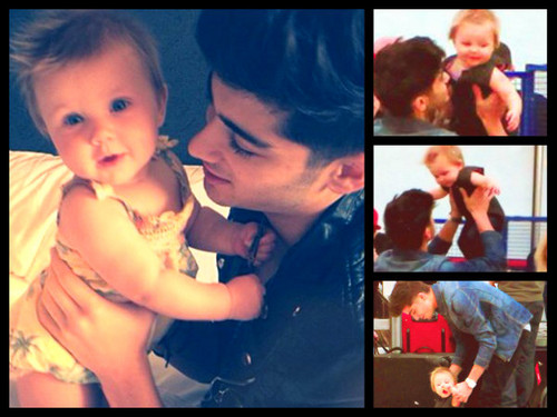 One Direction wallpaper titled Zayn and Baby Lux <333