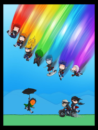 akatsuki rainbow!!!!