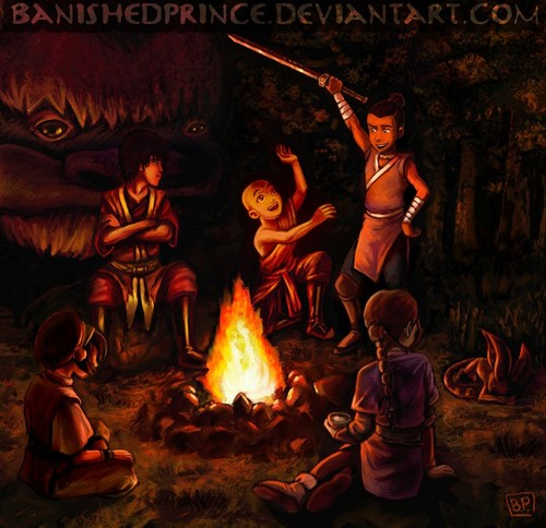 Avatar – Der Herr der Elemente Hintergrund with a feuer and a feuer called Avatar camp