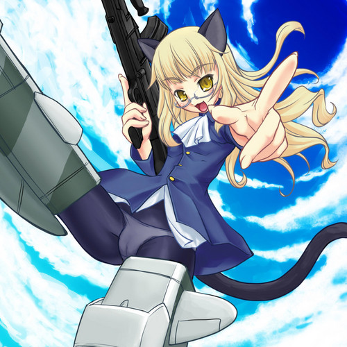Strike Witches wallpaper probably with Anime titled cat girl Perrine