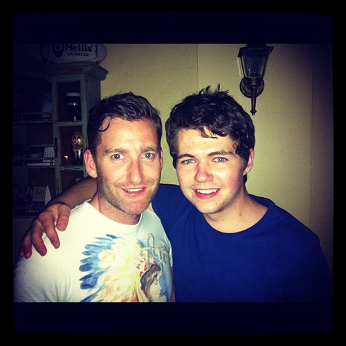 damianmcginty and paul on a night in New York Greatest city in the world-5-3-2012