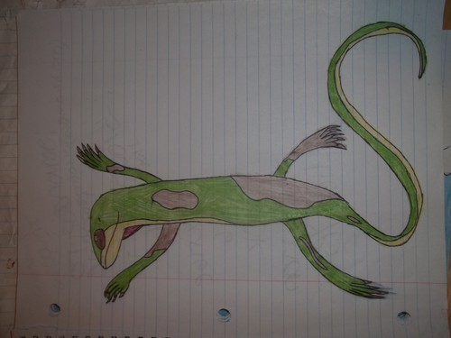 dusk the Ribelle - The Brave green anole