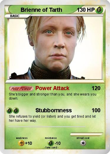 Brienne of Tarth- PokeCharacter Card