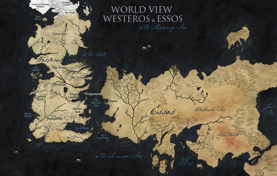 Map of Westeros & Essos