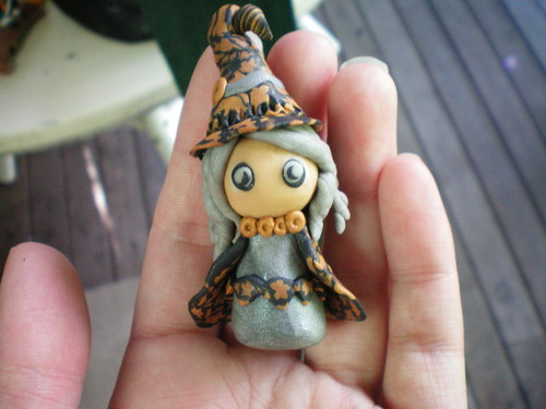 handmade clay witch