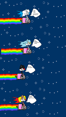 its nyan cat time HAPPY B-DAY BREEZE 2nd b-day present :3 HAPPY NYAN B-DAY BREEZE XD