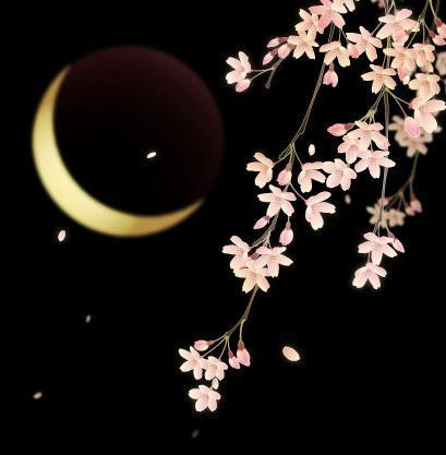 lunar moon and flowers