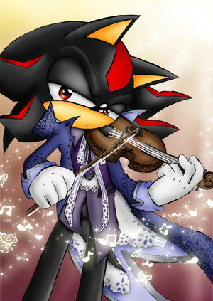 Shadow The Hedgehog kertas dinding entitled musician shadow