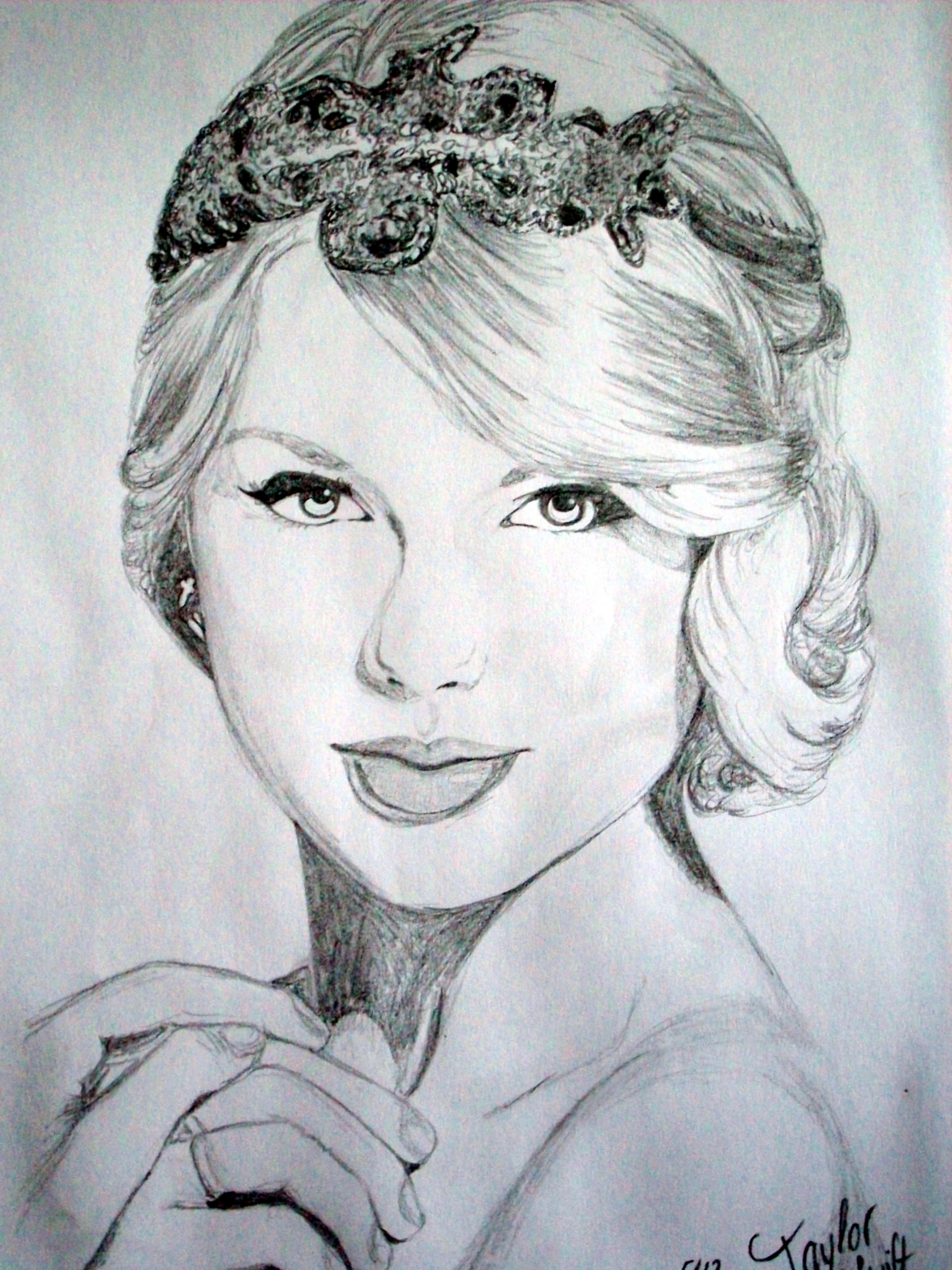 how to draw a taylor swift