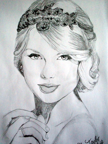 my taylor swift drawing<3
