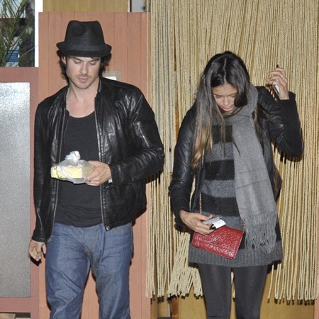 Ian Somerhalder and Nina Dobrev wallpaper containing a hip boot titled nian june 6