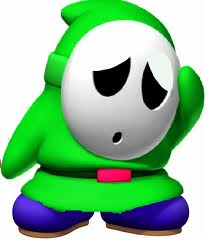 oh no shy guy has bummped his hed :(