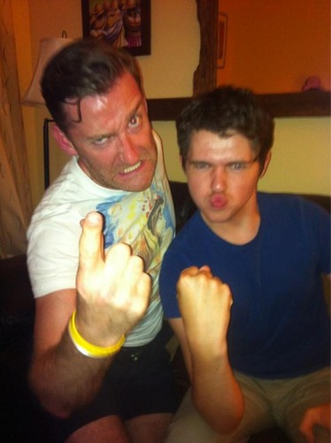 paul byrom, damian mcginty-Game face!!!! Let's keep it up Celtics. damianmcginty even looks scary