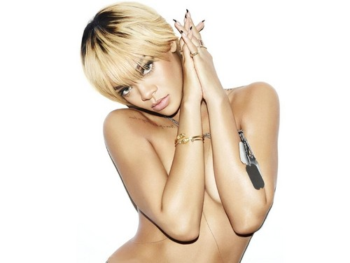 Rihanna wallpaper possibly with attractiveness and skin titled rihanna esquire nude