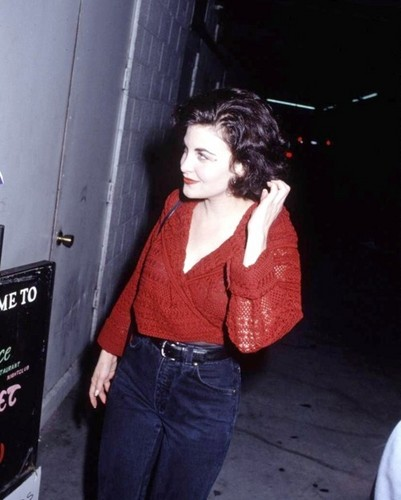 Sherilyn Fenn wallpaper probably containing a sign, a street, and an outerwear entitled sherilyn fenn
