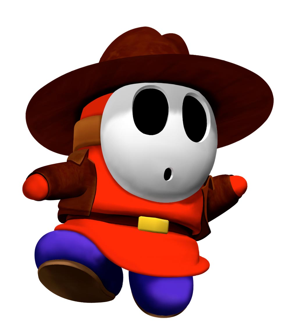 shy guy goes cowboy