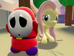 shy guy hates my little pony!