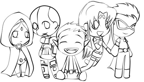 Teen Titans vs. Young Justice Обои entitled teen_titan_chibi