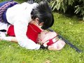 this is the real me in cosplay and i kiss girls