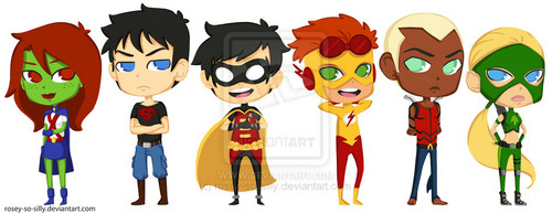 Teen Titans vs. Young Justice hình nền entitled toon_young_justice