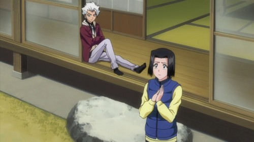 toushirou hitsugaya wallpaper possibly with a living room, an outerwear, and a sarang, den called toshiro